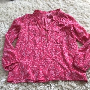 Women's Lilly Pulitzer silk blouse
